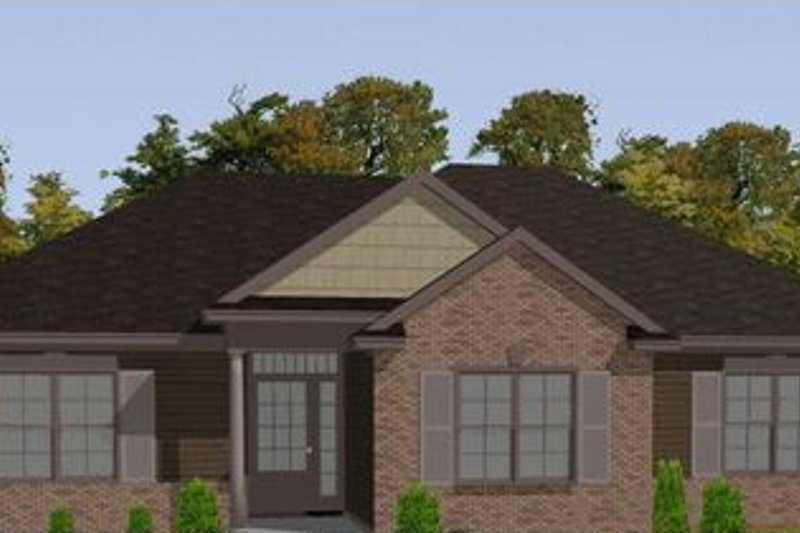 Bungalow Style House Plan - 3 Beds 2 Baths 1472 Sq/Ft Plan #63-307 Exterior - Front Elevation