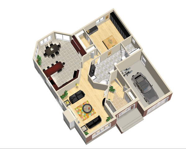 European Floor Plan - Main Floor Plan Plan #25-4656