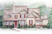 Traditional Style House Plan - 5 Beds 3.5 Baths 2994 Sq/Ft Plan #54-135 Exterior - Other Elevation