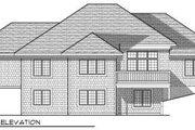 European Style House Plan - 3 Beds 2.5 Baths 2754 Sq/Ft Plan #70-689 Exterior - Rear Elevation