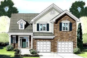 Architectural House Design - Traditional Exterior - Front Elevation Plan #46-422