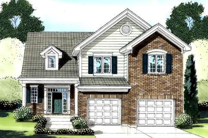 Traditional Exterior - Front Elevation Plan #46-422 - Houseplans.com