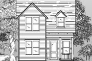 Cottage Style House Plan - 3 Beds 2.5 Baths 1809 Sq/Ft Plan #442-1 Exterior - Front Elevation