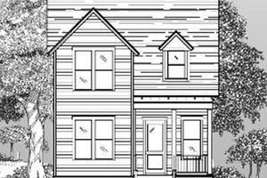 Cottage Exterior - Front Elevation Plan #442-1