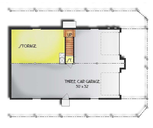 Traditional Floor Plan - Lower Floor Plan #24-272