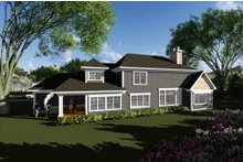 Craftsman Exterior - Rear Elevation Plan #70-1286