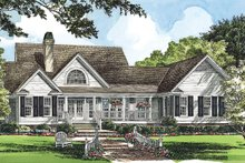 Dream House Plan - Country Exterior - Rear Elevation Plan #929-224
