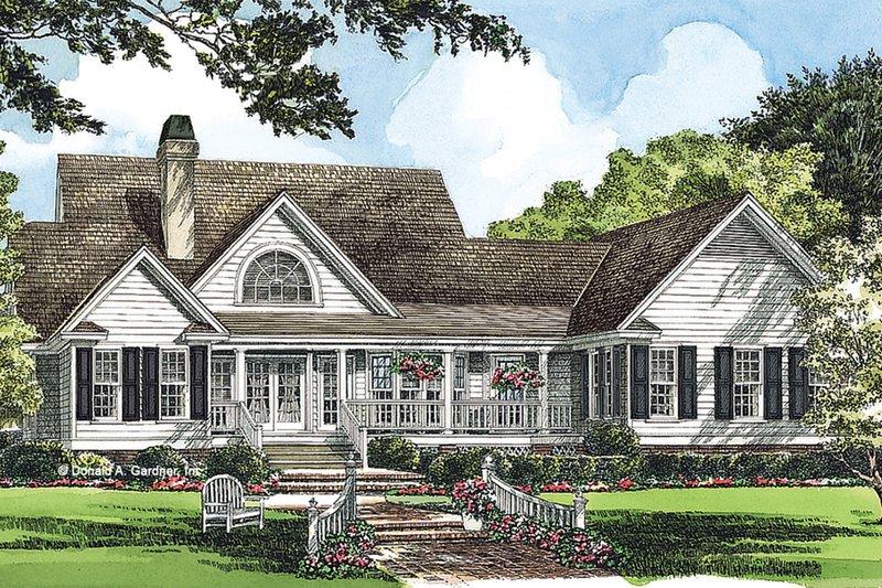 Country Exterior - Rear Elevation Plan #929-224 - Houseplans.com