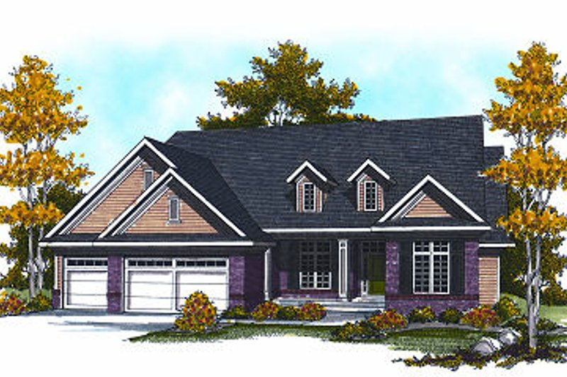 Dream House Plan - Traditional Exterior - Front Elevation Plan #70-870