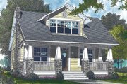 Bungalow Style House Plan - 3 Beds 3 Baths 2010 Sq/Ft Plan #453-73 Exterior - Front Elevation
