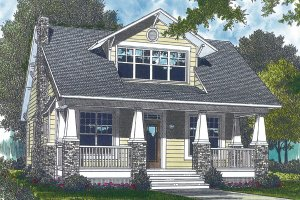Bungalow Exterior - Front Elevation Plan #453-73
