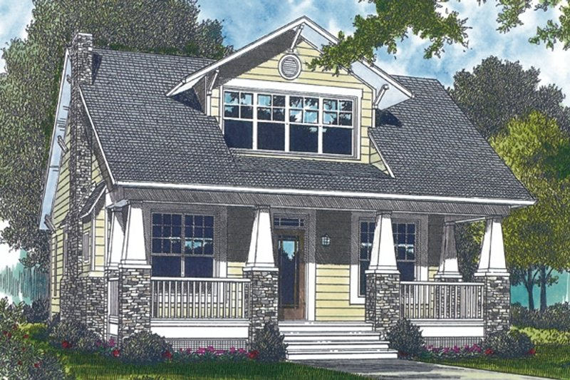 Bungalow Style House Plan - 3 Beds 3 Baths 2010 Sq/Ft Plan #453-73