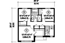 Contemporary Floor Plan - Upper Floor Plan Plan #25-4278