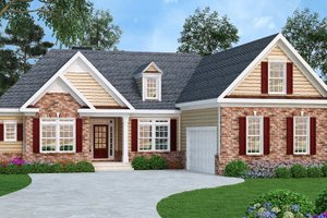 Home Plan - Traditional Exterior - Front Elevation Plan #419-111