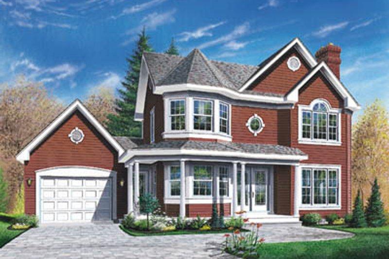 Architectural House Design - Victorian Exterior - Front Elevation Plan #23-299