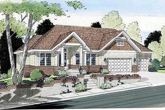 Modern Exterior - Front Elevation Plan #312-630