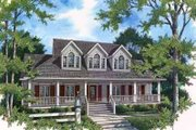 Colonial Style House Plan - 4 Beds 4 Baths 2598 Sq/Ft Plan #45-231 Exterior - Front Elevation