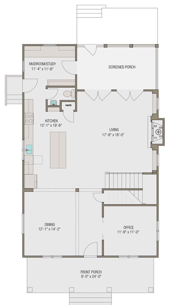 Prairie Floor Plan - Main Floor Plan #461-49