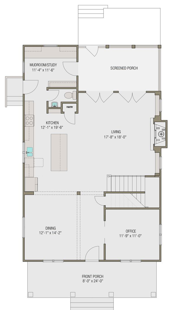 Prairie Floor Plan - Main Floor Plan Plan #461-49