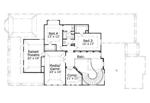 European Floor Plan - Upper Floor Plan #411-708