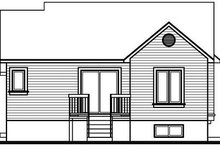 Dream House Plan - Cottage Exterior - Rear Elevation Plan #23-706