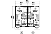 European Style House Plan - 6 Beds 2 Baths 3544 Sq/Ft Plan #25-4393 Floor Plan - Upper Floor Plan