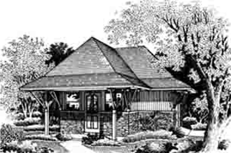 European Style House Plan - 0 Beds 0 Baths 504 Sq/Ft Plan #45-261 Exterior - Front Elevation