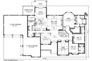 Traditional Style House Plan - 3 Beds 3.5 Baths 3794 Sq/Ft Plan #70-1146 Floor Plan - Main Floor