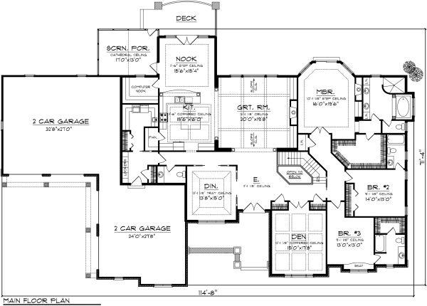 Traditional Floor Plan - Main Floor Plan Plan #70-1146