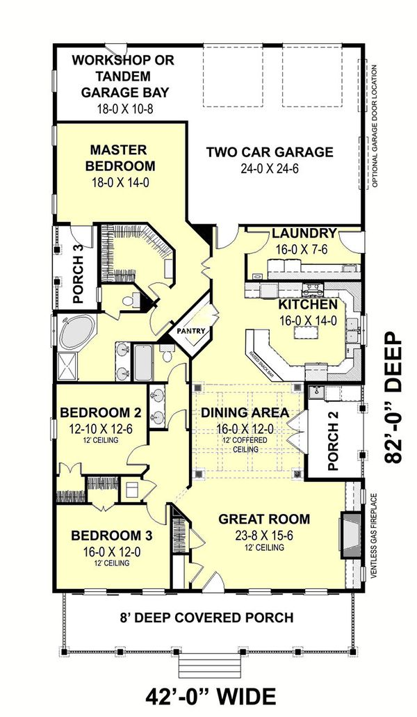 Traditional Floor Plan - Main Floor Plan #44-251