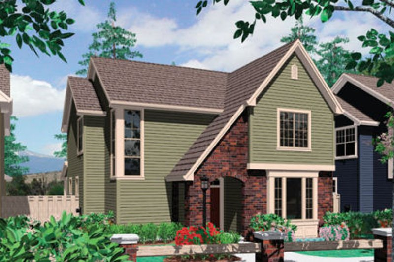 Traditional Exterior - Front Elevation Plan #48-388