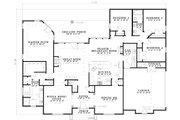 European Style House Plan - 4 Beds 2.5 Baths 2631 Sq/Ft Plan #17-1180 Floor Plan - Main Floor Plan