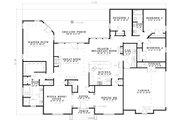 European Style House Plan - 4 Beds 2.5 Baths 2631 Sq/Ft Plan #17-1180 Floor Plan - Main Floor