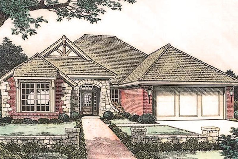 European Exterior - Front Elevation Plan #310-900