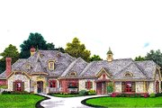 European Style House Plan - 3 Beds 3.5 Baths 2557 Sq/Ft Plan #310-962 Exterior - Front Elevation