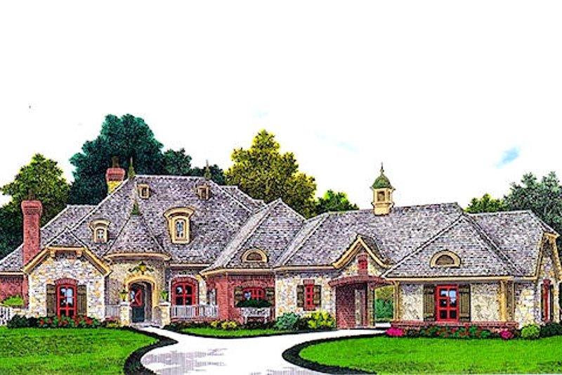 House Plan Design - European Exterior - Front Elevation Plan #310-962