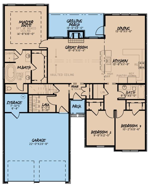 Ranch Floor Plan - Main Floor Plan Plan #923-93