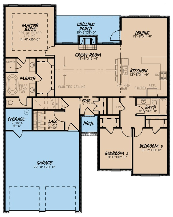 House Plan Design - Ranch Floor Plan - Main Floor Plan #923-93
