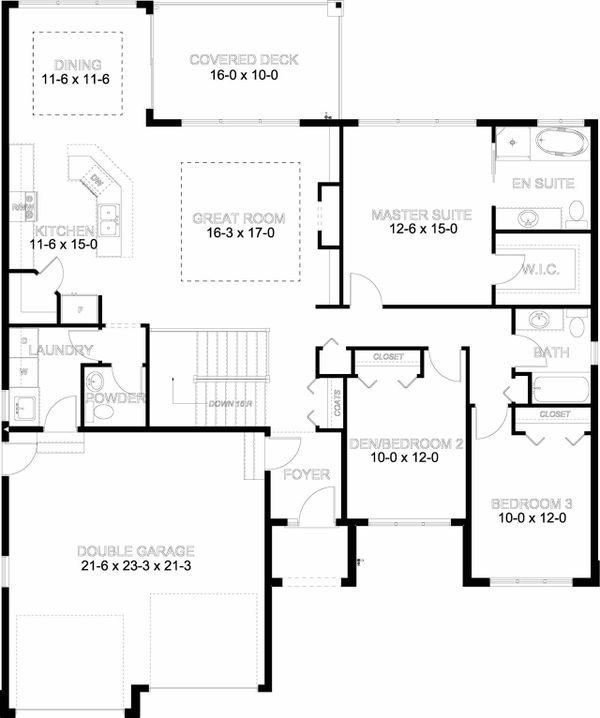 House Plan Design - Mediterranean Floor Plan - Main Floor Plan #126-211