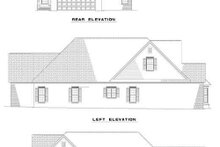 House Plan Design - Country Exterior - Rear Elevation Plan #17-1031