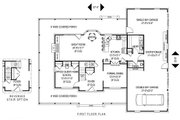 Country Style House Plan - 4 Beds 2.5 Baths 2198 Sq/Ft Plan #11-220 Floor Plan - Main Floor Plan