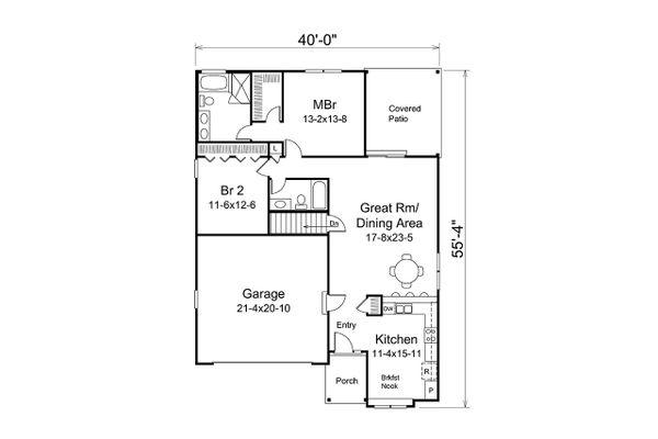 Dream House Plan - Ranch Floor Plan - Main Floor Plan #57-670