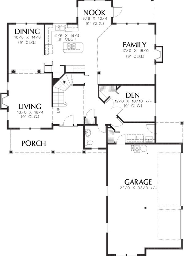 Country Floor Plan - Main Floor Plan Plan #48-331