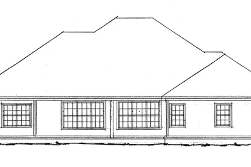 Traditional Exterior - Rear Elevation Plan #20-345 - Houseplans.com