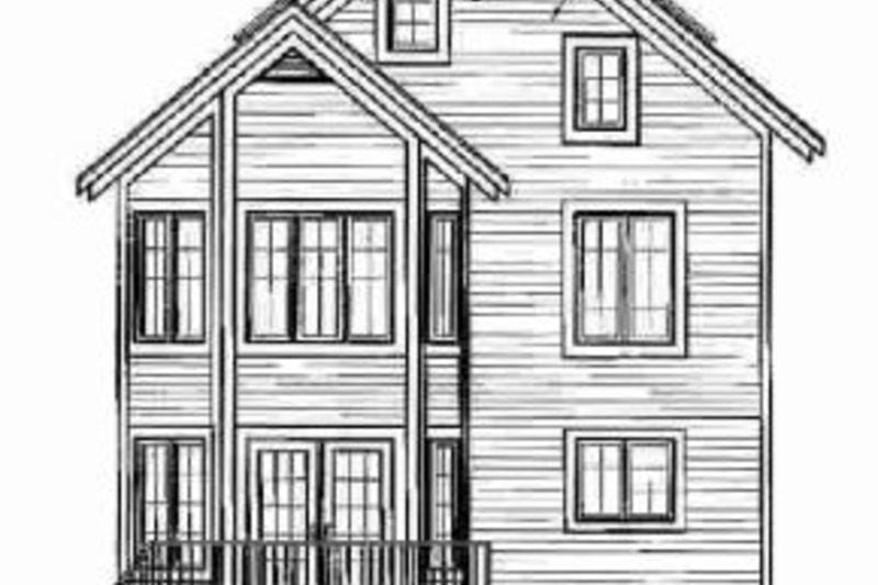 European Exterior - Rear Elevation Plan #23-2045 - Houseplans.com