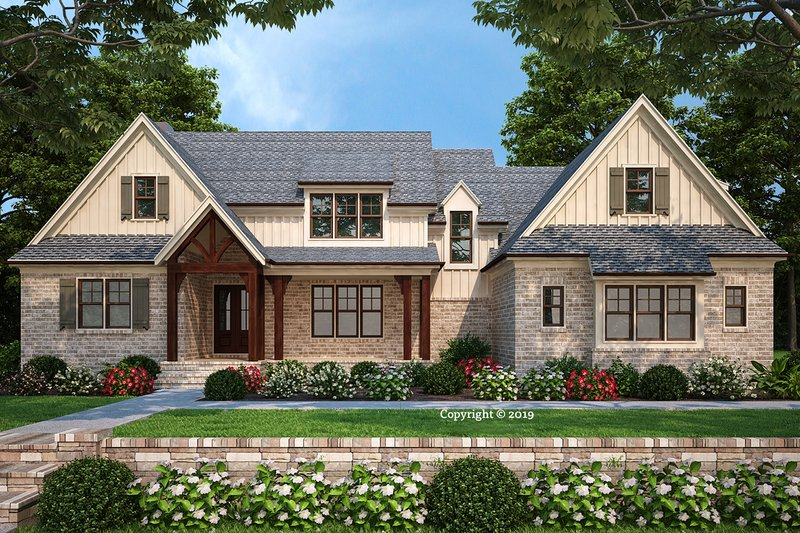 Dream House Plan - Farmhouse Exterior - Front Elevation Plan #927-999