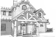 Log Style House Plan - 4 Beds 5 Baths 4456 Sq/Ft Plan #451-16 Exterior - Other Elevation