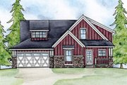 Country Style House Plan - 2 Beds 2.5 Baths 1677 Sq/Ft Plan #20-2075 Exterior - Front Elevation