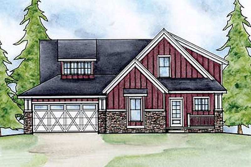House Plan Design - Country style home, elevation