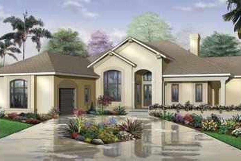 Dream House Plan - Mediterranean Exterior - Front Elevation Plan #23-403